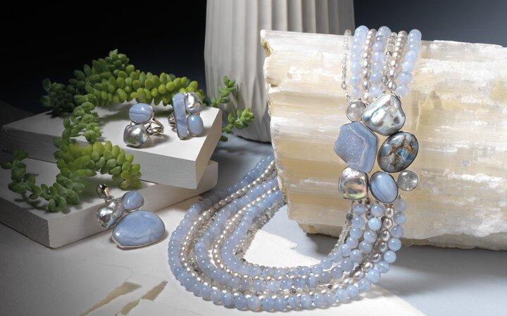 b995dbc5e Šperky z polodrahokamov, náhrdelník z polodrahokamov, náramok z ...