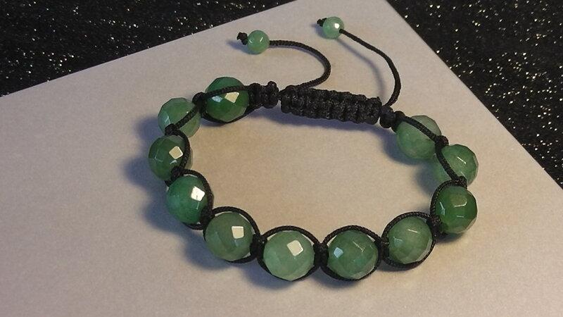 d176e0a1d náramok jadeit shamballa šperky z polodrahokamov liečivé šperky ...