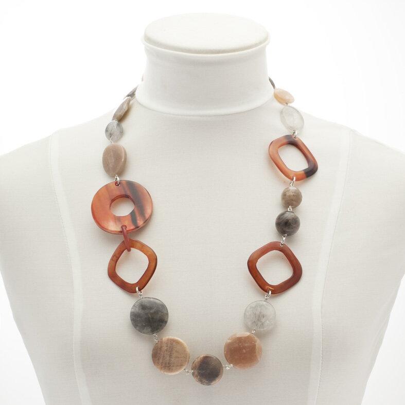 334f3eda1 náhrdelník mesačný kameň šperky z polodrahokamov liečivé šperky ...